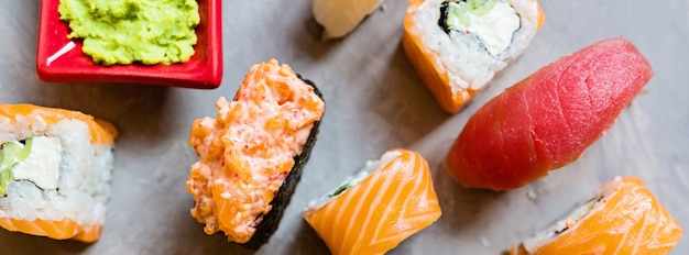 Ensemble De Sushi Photo Premium