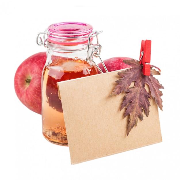 Enveloppe artisanale de cidre de pomme Photo Premium