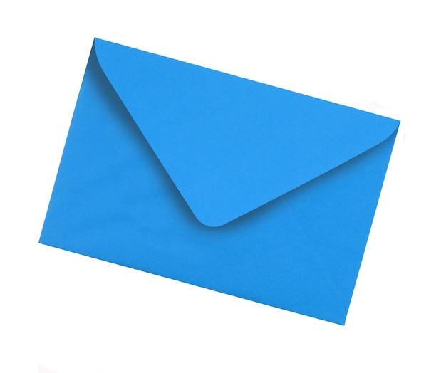 Enveloppe bleue plaine Photo gratuit
