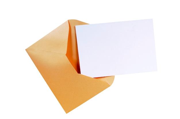 Enveloppe marron manille avec lettre vierge Photo Premium