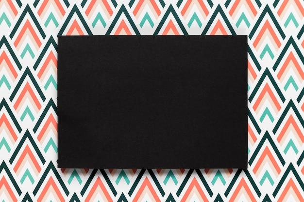 Enveloppe Noire Invitation De Mariage Plat Poser Photo gratuit