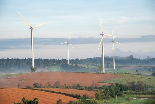 Une éolienne Photo Premium