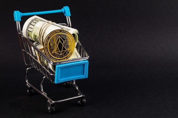 Eosio eos est un moyen moderne d'échange et de marchés web Photo Premium