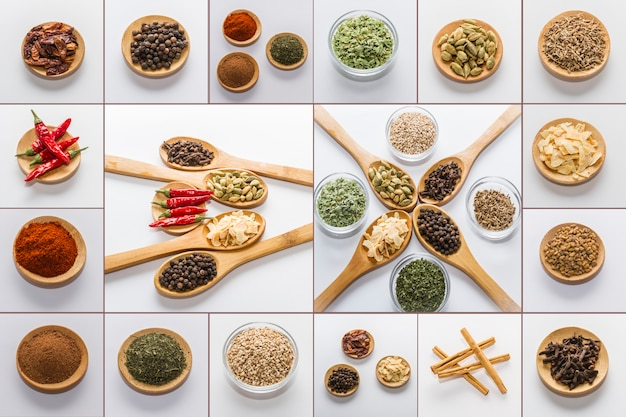 Épices pour la cuisine Photo Premium