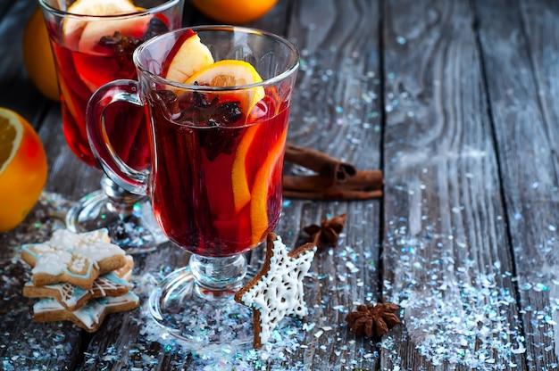 Épices et vin chaud Photo Premium