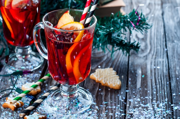 Epices et vin chaud Photo Premium