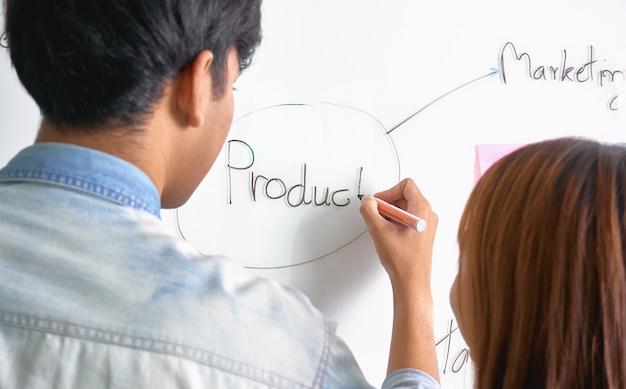 L'équipe Qui Aide à Faire Du Brainstorming Photo Premium