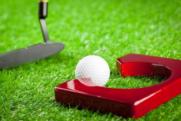 Équipement de mini golf Photo Premium