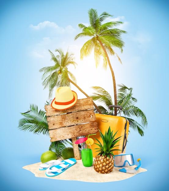 Équipement pour l'été Photo Premium