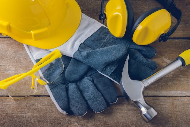 Equipement de sécurité de construction standard Photo Premium
