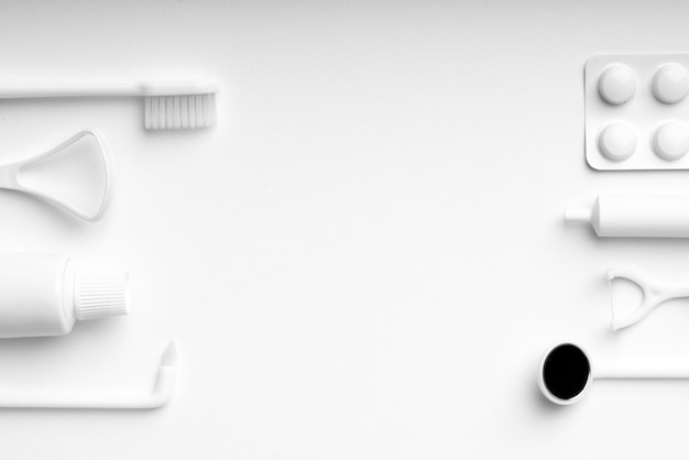 Équipement De Soins Dentaires Blanc Photo Premium