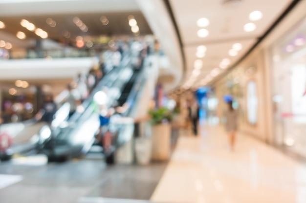 Escalator Blurred Dans Un Centre Commercial Photo gratuit