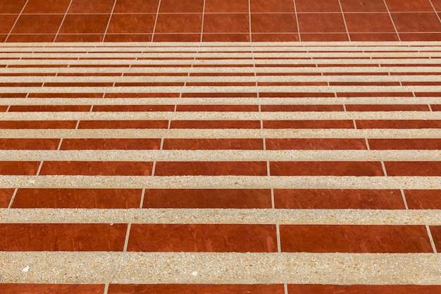 Escalier de marbre rouge Photo Premium