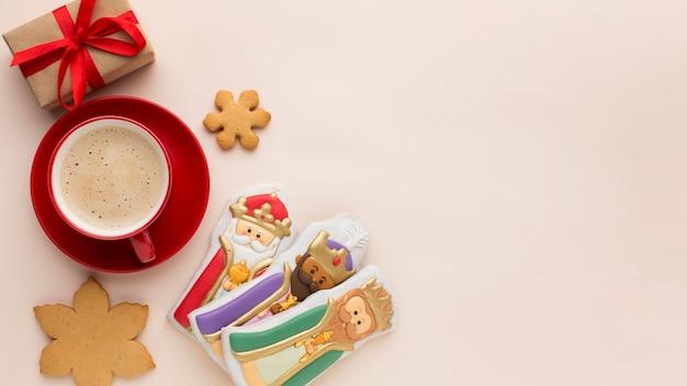Espace De Copie De Figurines Comestibles Biscuit Royauté Photo gratuit