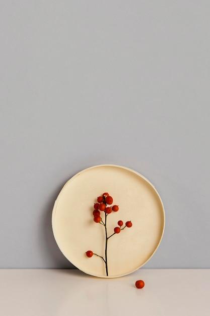 Espace De Copie De Fleurs Rouges Plante Minimale Abstraite Photo gratuit