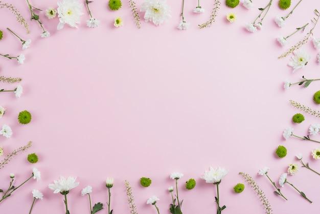 Espace de copie de fond de fleurs Photo gratuit