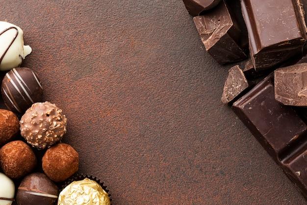 Espace De Copie De Truffes Au Chocolat Gastronomiques Photo gratuit