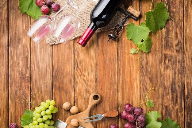 Espace de copie des vignes et du vin Photo gratuit