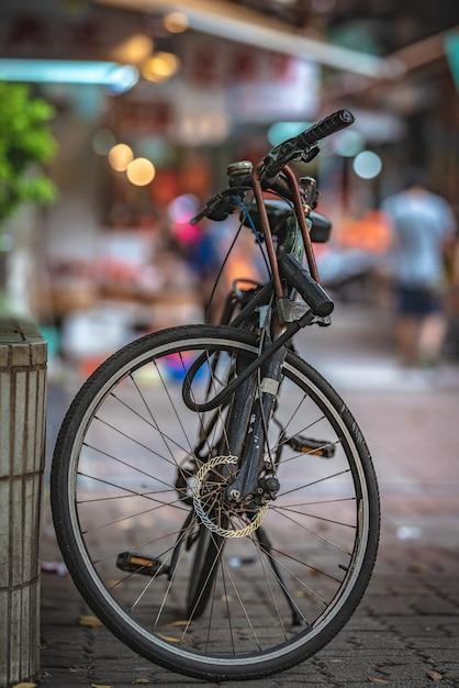 Espace de stationnement pour vélos Photo Premium