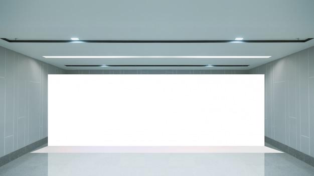 Espace vide (mur vide dans une pièce lumineuse) Photo Premium