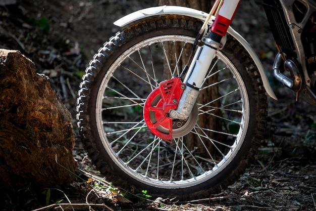 Essais de roues moto Photo Premium