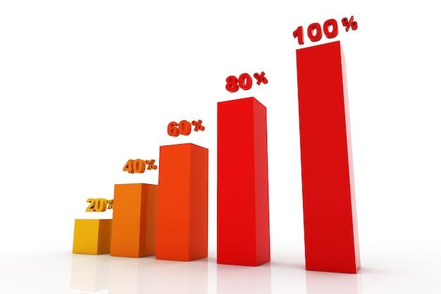 Étapes commerciales modernes à la bannière d'options de graphiques et graphiques de réussite - illustration Photo Premium