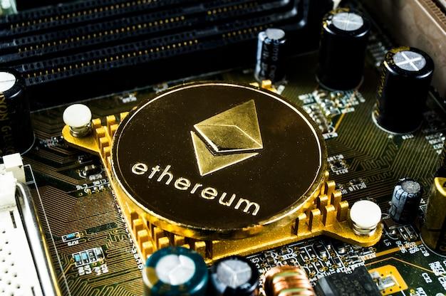 Ethereum est un moyen d'échange moderne et cette crypto-monnaie Photo Premium