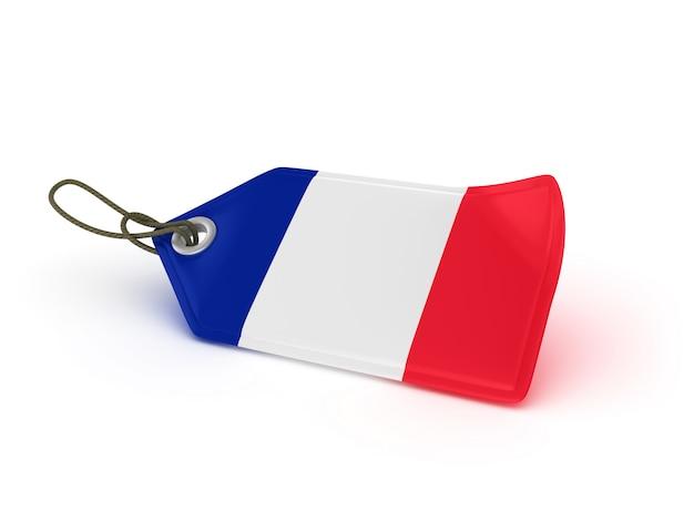 Étiquette De Prix D'achat Drapeau Français Photo Premium