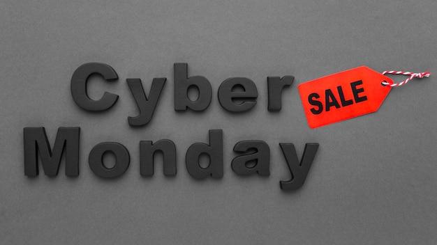 Étiquette De Vente Et étiquette De Prix Cyber Monday Photo gratuit