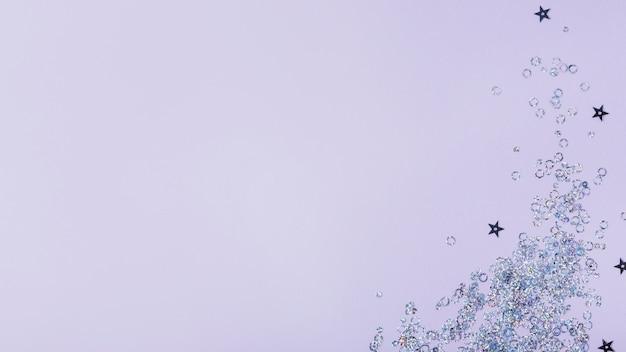 Étoiles abstraites et paillettes de cercle avec espace de copie Photo gratuit