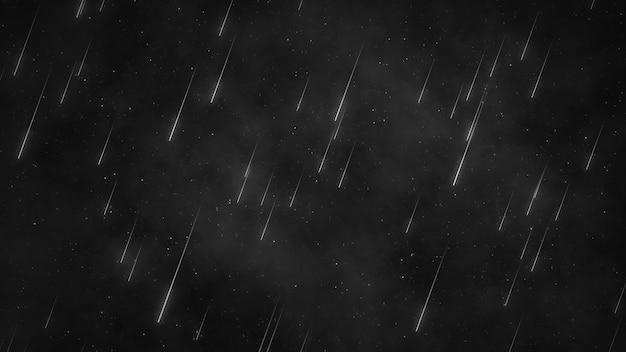 Étoiles Dans Le Ciel Nocturne, Ciel étoilé Tournant Autour De La Terre Photo Premium