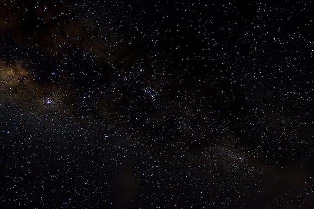 Étoiles et galaxie fond de nuit ciel Photo Premium