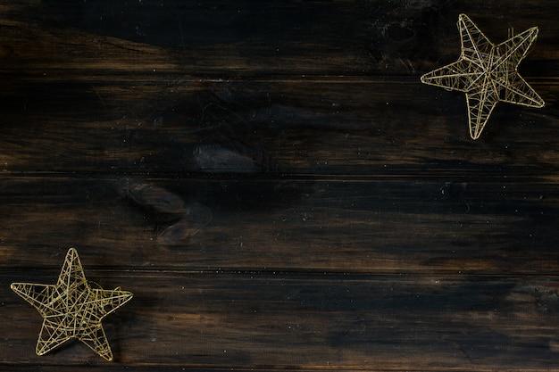 Étoiles de noël nouvel an intérieur. espace de copie de fond de noël. Photo Premium