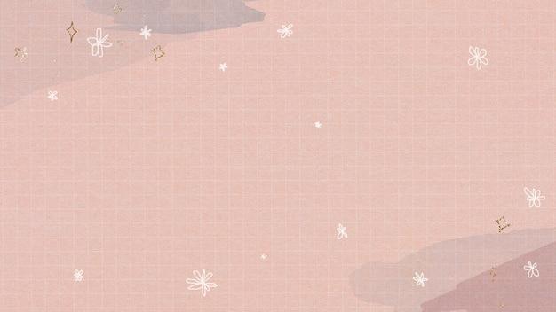 Étoiles Scintillantes Sur Une Grille Aquarelle Photo gratuit