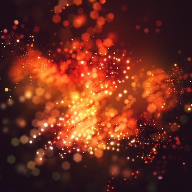 Étonnant flou fond bokeh avec effet scintillant Photo gratuit