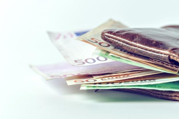 Euros dans mon portefeuille Photo Premium