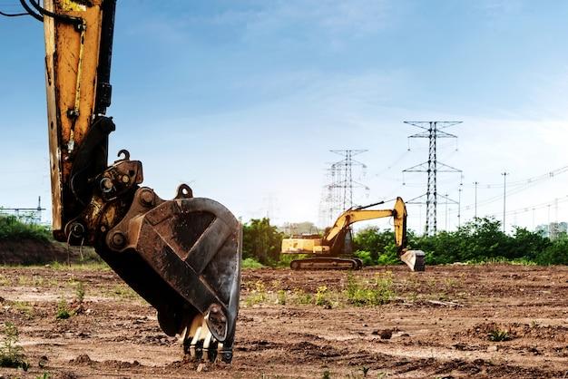Excavatrice sur le site Photo Premium