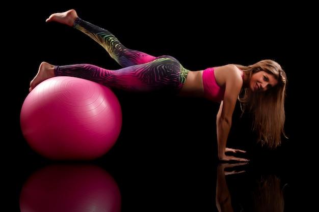 Exercice de fitness fille Photo Premium