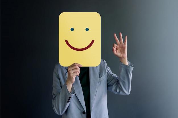 Expérience client ou concept émotionnel humain Photo Premium