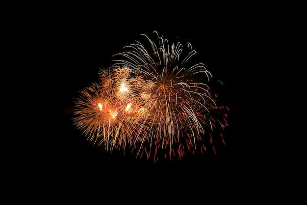 Explosion de feux d'artifice colorés dans le festival annuel Photo Premium