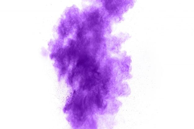 Explosion de poudre de couleur pourpre Photo Premium