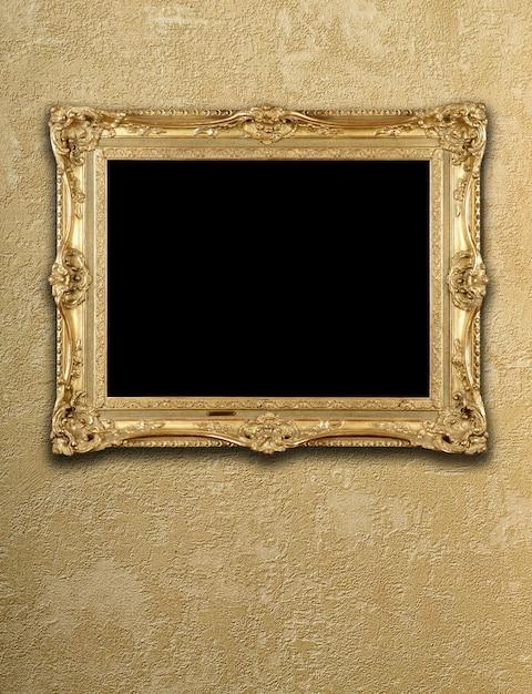 Exposition vide dans un cadre doré Photo Premium