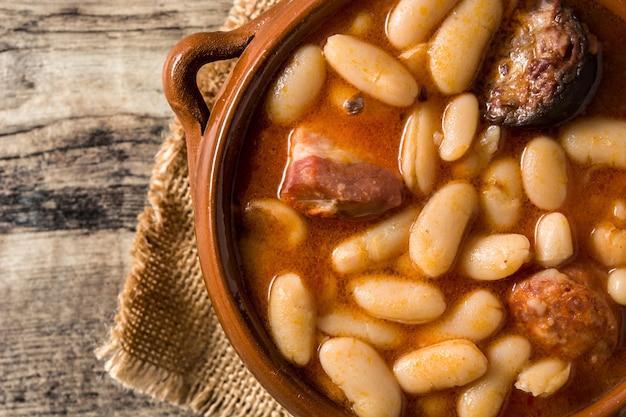 Fabada Asturiana Espagnole Typique Photo Premium