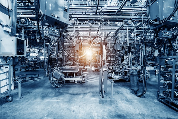 Fabrication automobile Photo Premium