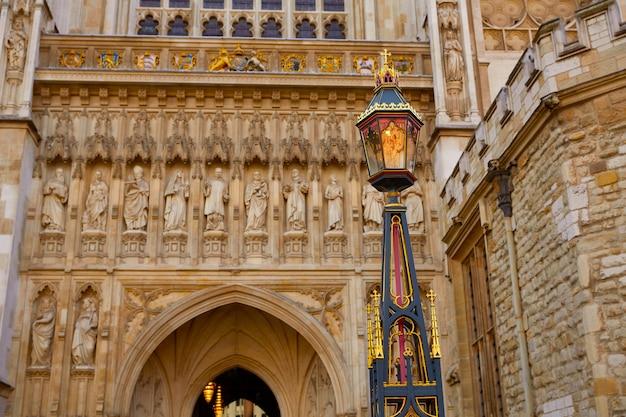 Façade de l'abbaye de londres westminster Photo Premium