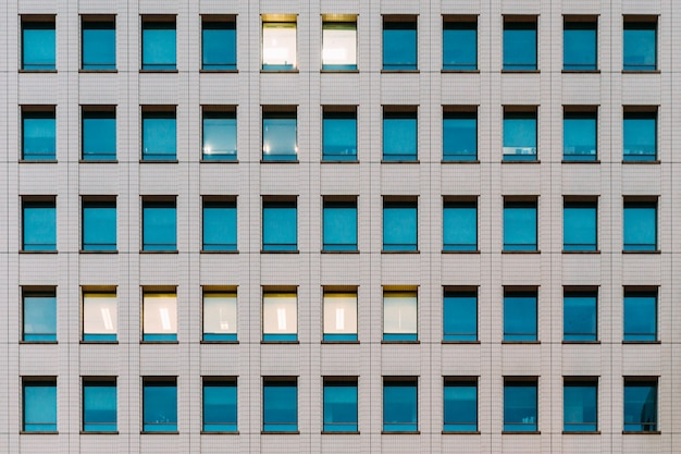 Façade de bâtiment moderne Photo Premium
