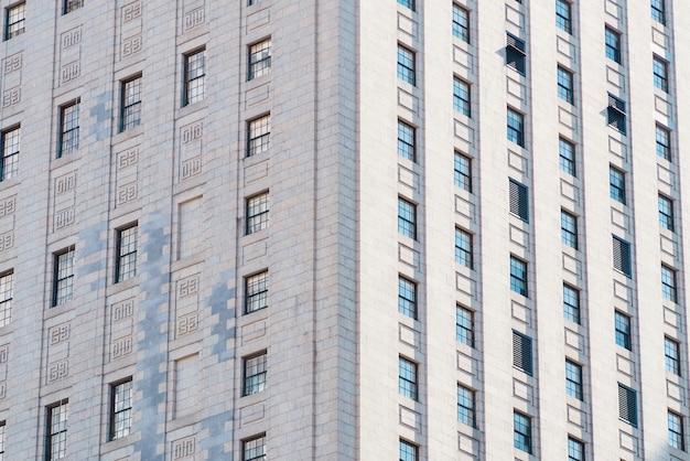Façade de l'immeuble d'habitation de grande hauteur Photo gratuit