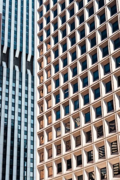 Façades d'immeubles de grande hauteur Photo gratuit