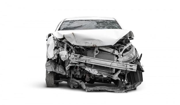 Face Avant De La Voiture Accidentée De L'accident Photo Premium