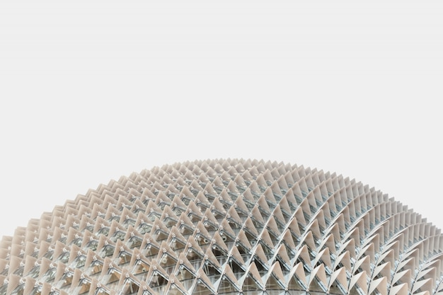 Faible Angle De Vue D'un Bâtiment En Forme De Dôme Blanc Capturé à Singapour Photo gratuit